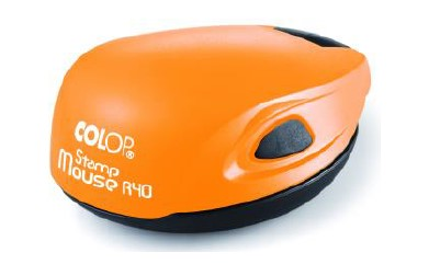 Colop Stamp mouse R40 Orange (оранжевая) оснастка для печати d 40 мм (АКЦИЯ)