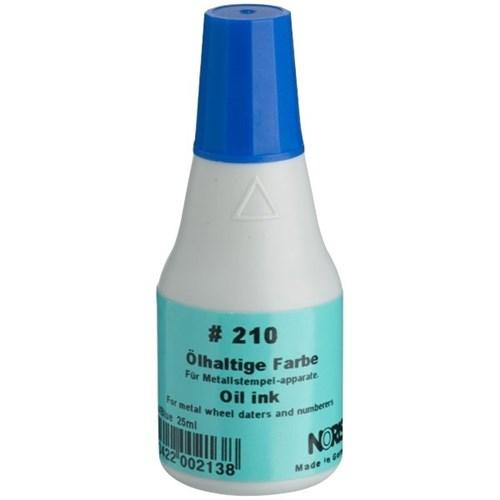 Noris -Colop 210Ас Быстросохнущая краска штемпельная СИНЯЯ на масляной основе для штампов с метал. клише,автонумераторов 25мл