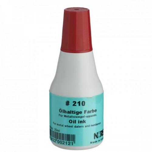Noris -Colop 210Ак Быстросохнущая краска штемпельная КРАСНАЯ на масляной основе для штампов с метал. клише,автонумераторов 25мл