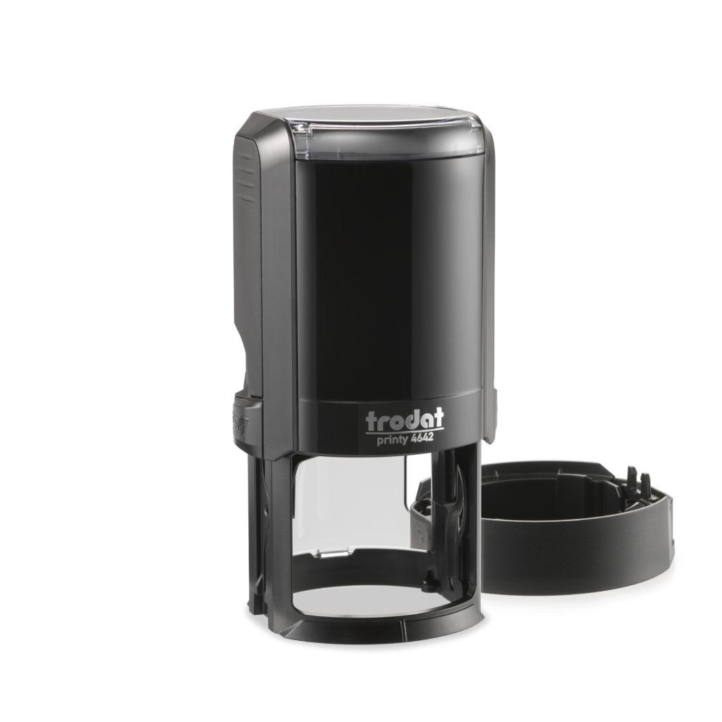 Trodat 4642NEW автоматичская оснастка для печати d 42мм с защитной крышкой (черная) (АКЦИЯ)
