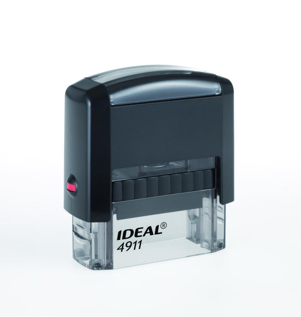 Trodat 4911 Ideal черная автоматическая оснастка  для штампа 38х14 мм
