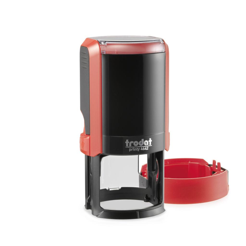 Trodat 4642 NEW автоматическая оснастка для печати d 42мм с защитной крышкой (красная) (АКЦИЯ)