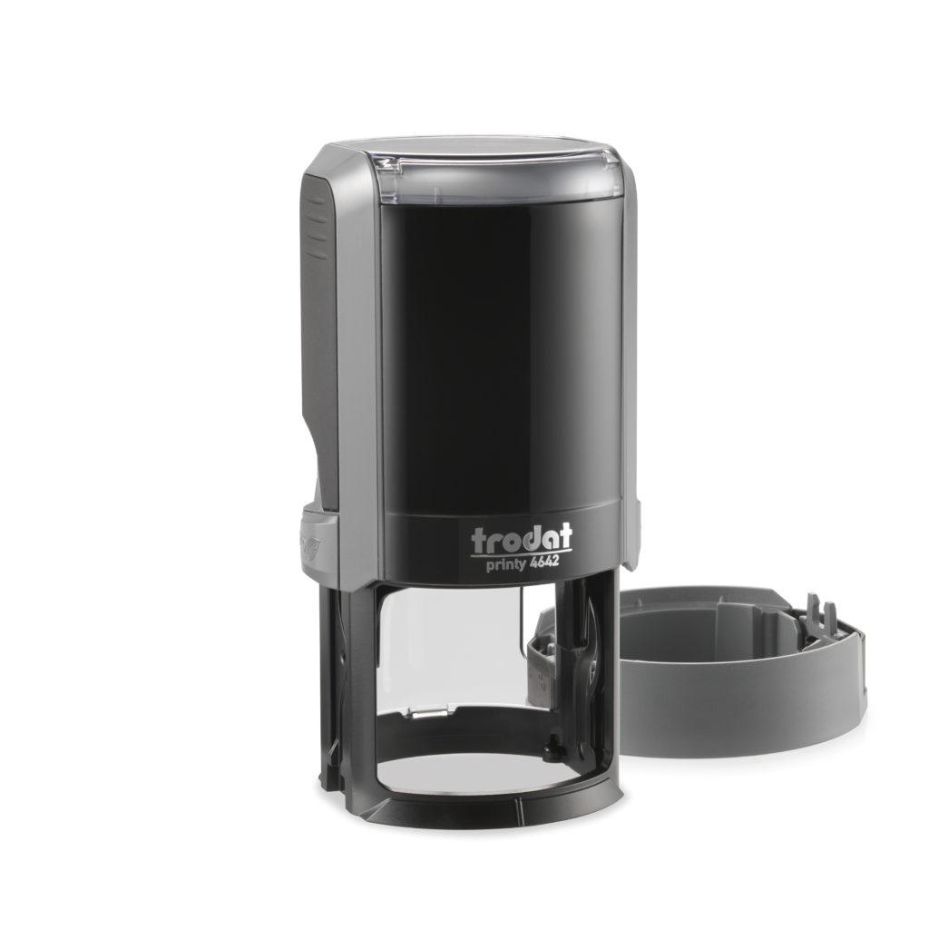 Trodat 4642 NEW автоматическая оснастка для печати d 42мм с защитной крышкой (серая) (АКЦИЯ)