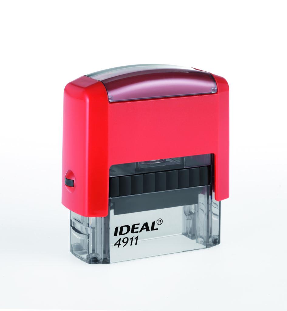 Trodat 4911 Ideal красная автоматическая оснастка  для штампа 38х14 мм