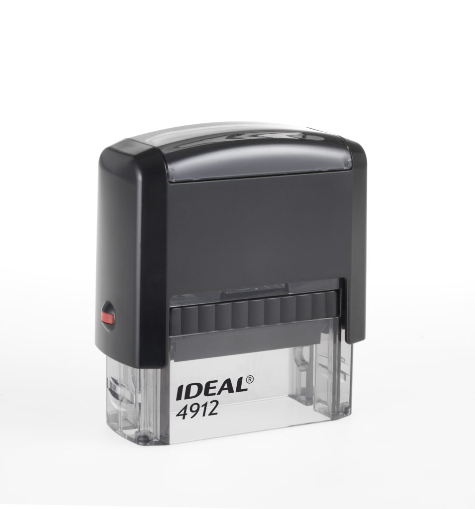 Trodat 4912 Ideal черная автоматическая оснастка  для штампа 47х18 мм