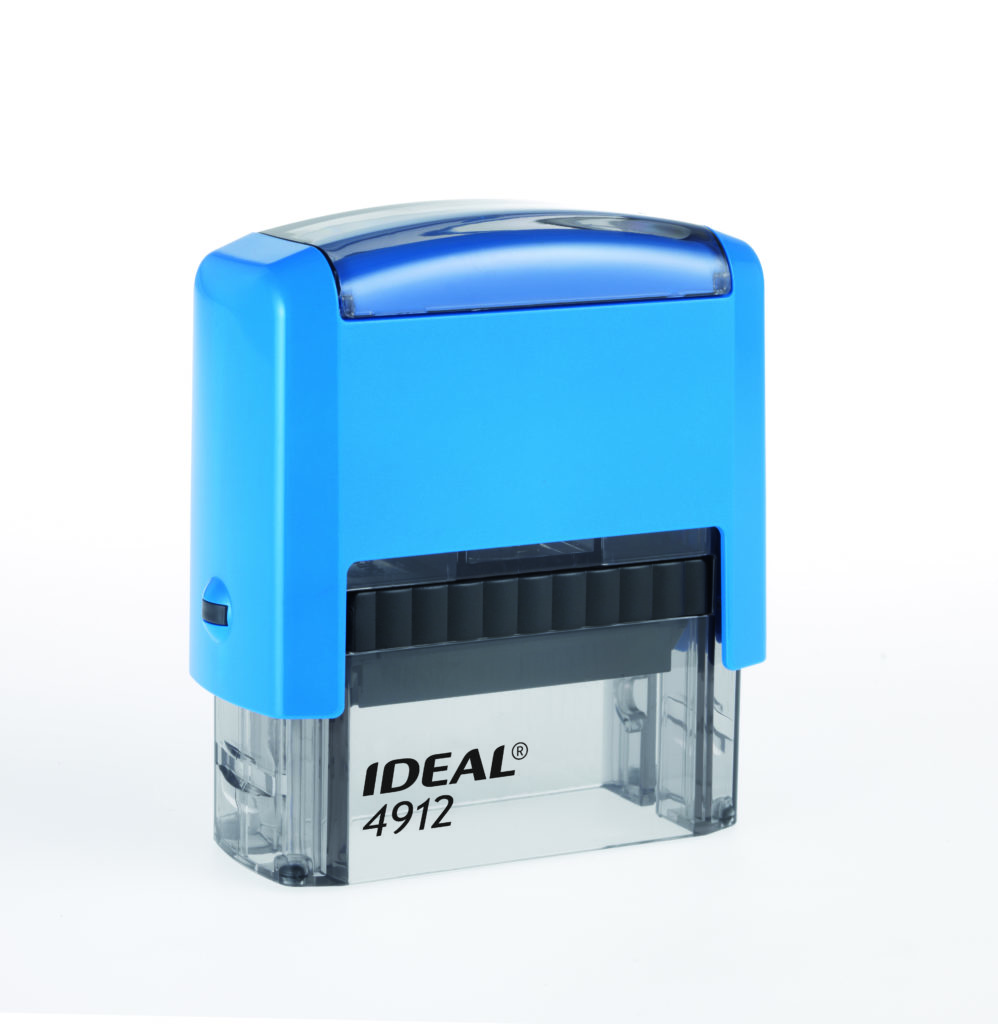 Trodat 4912 Ideal синяя автоматическая оснастка  для штампа 47х18 мм