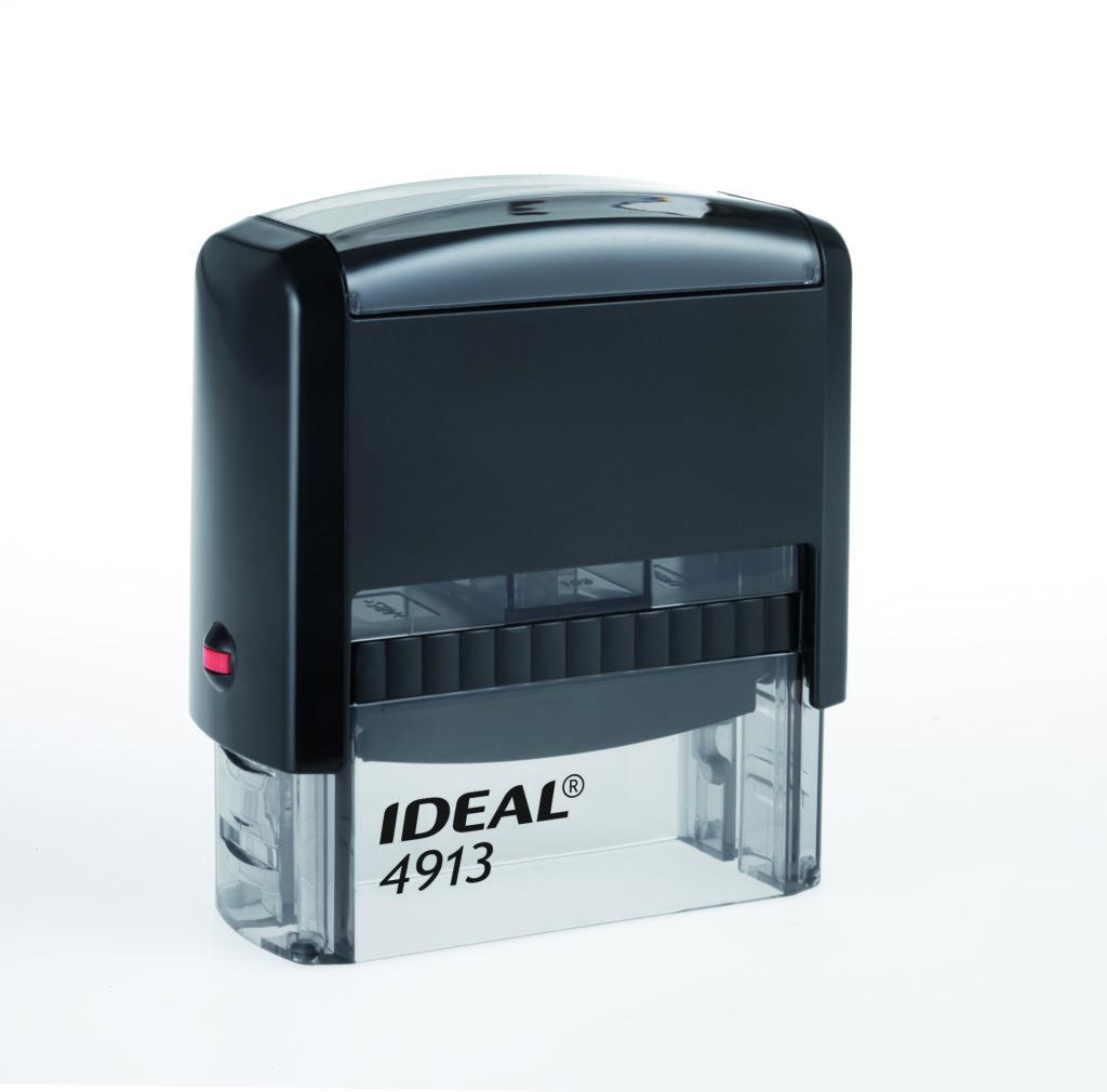 Trodat 4913 Ideal черная автоматическая оснастка  для штампа 58х22 мм