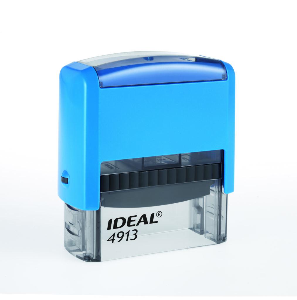 Trodat 4913 Ideal синяя автоматическая оснастка  для штампа 58х22 мм
