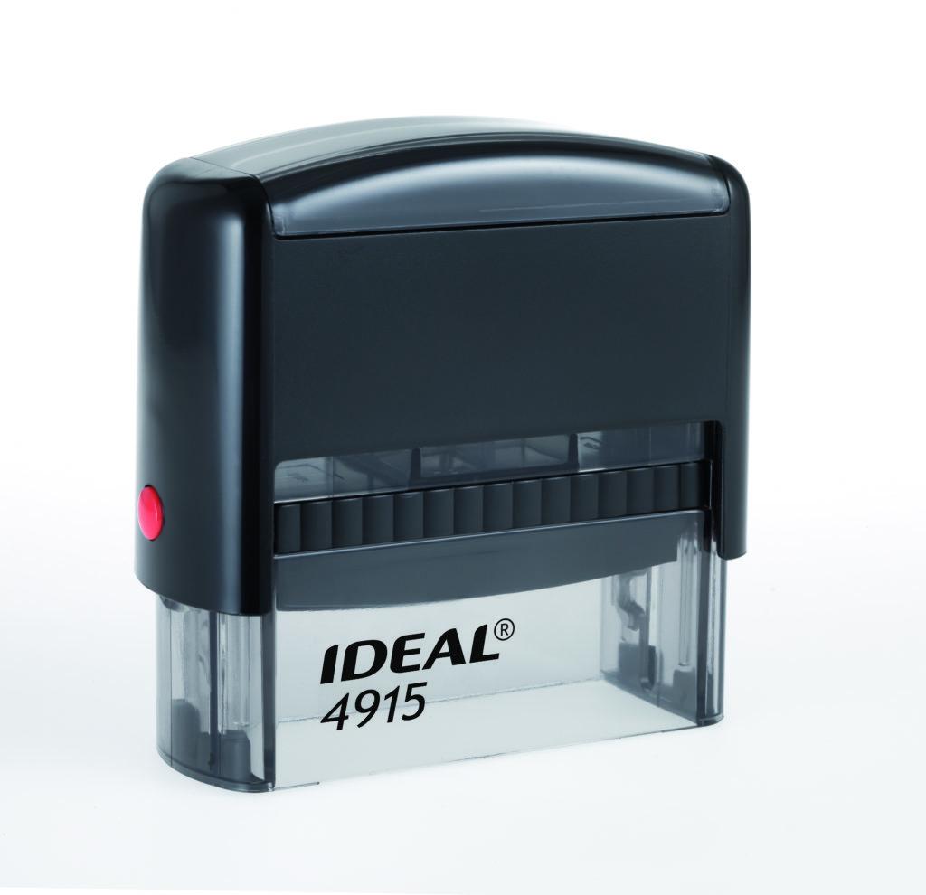 Trodat 4915 Ideal черная автоматическая оснастка  для штампа 70х25 мм