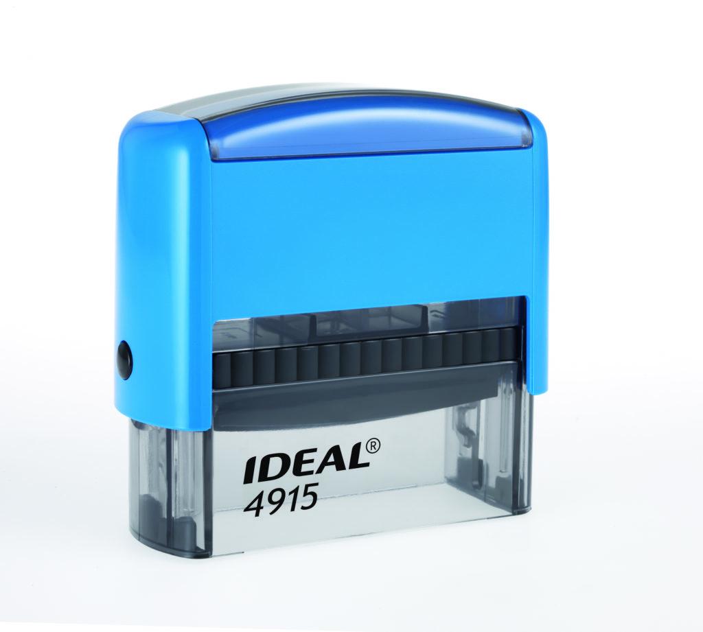 Trodat 4915 Ideal синяя автоматическая оснастка  для штампа 70х25 мм