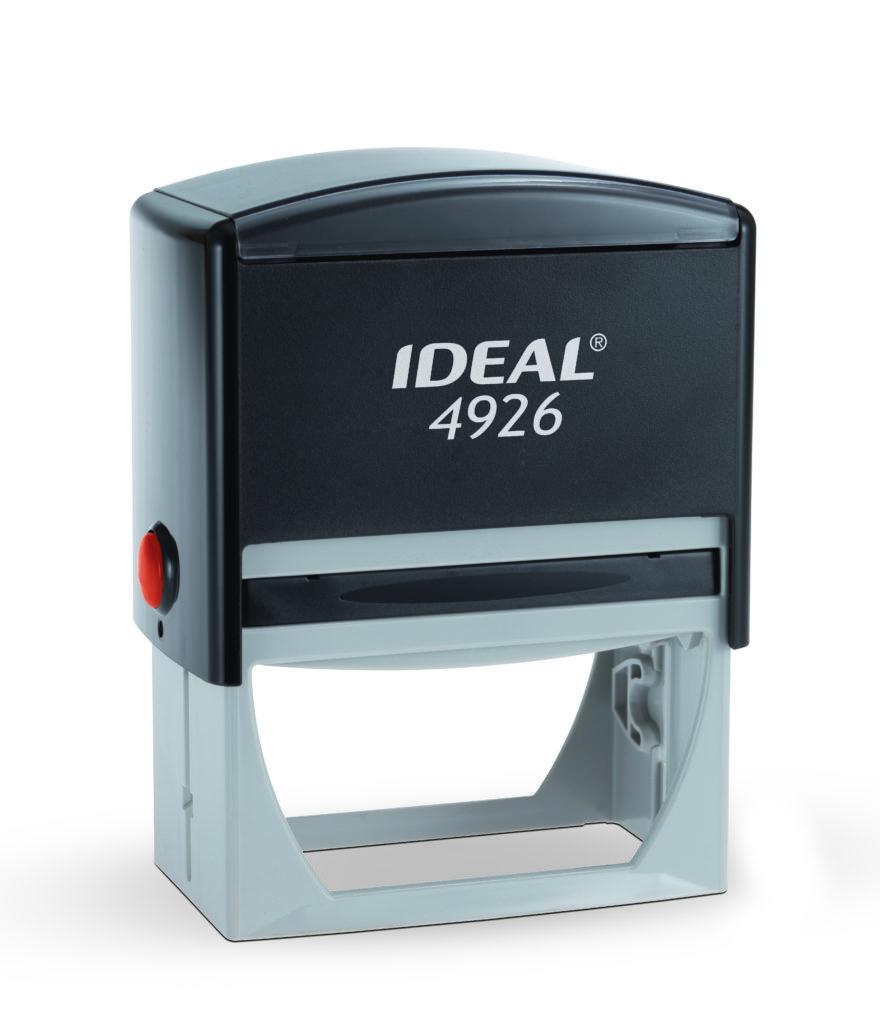 Trodat 4926 Ideal черная автоматическая оснастка  для штампа 75х38 мм