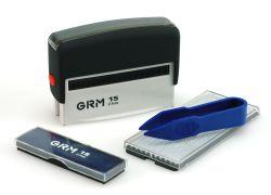 GRM 15 SET самонаборный штамп  2 строки 1 КАССА 70*10мм ЭКОНОМ