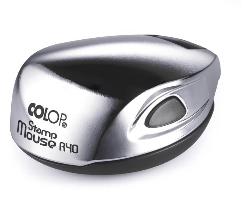 Colop Stamp mouse R40 chrome (ХРОМ) оснастка для печати d 40 мм