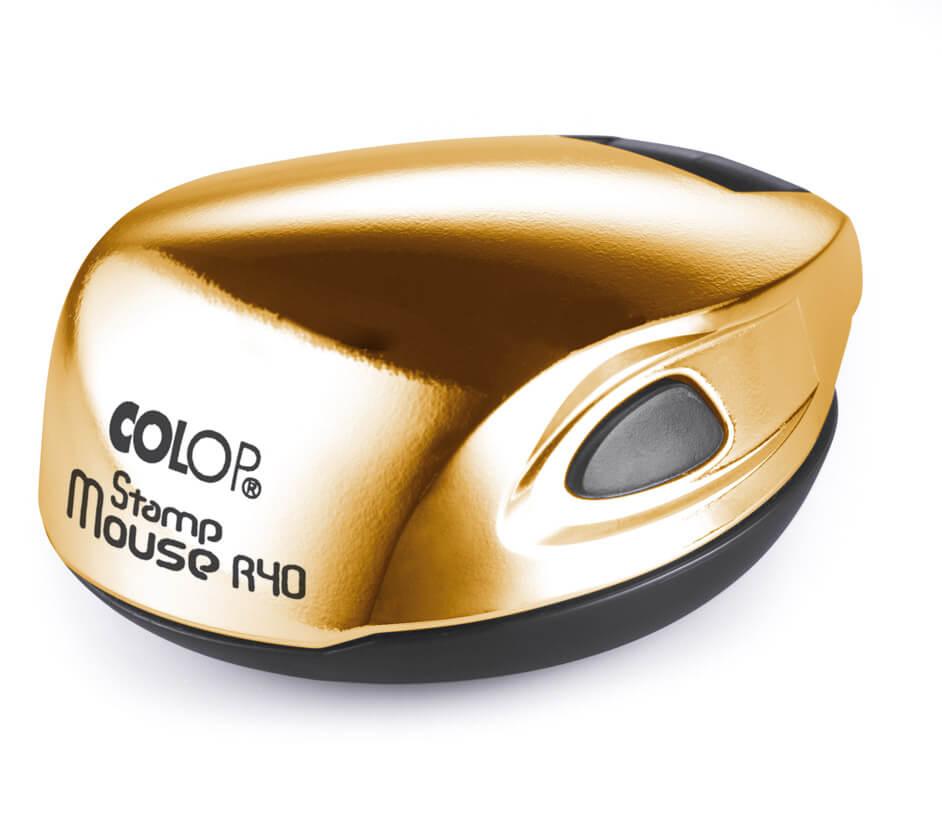 Colop Stamp mouse R40 gold  (ЗОЛОТО) оснастка для печати d 40 мм