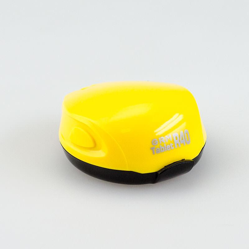 GRM Tablet R40 ручная полуавтомат. карманная оснастка с подушкой для печати D 40 мм (ЖЕЛТЫЙ).