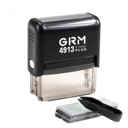 GRM 4913 PLUS (GRM 40 SET plus) самонаборный штамп  5 строки(до 6 строк) 1 КАССА 59х23мм ЭКОНОМ