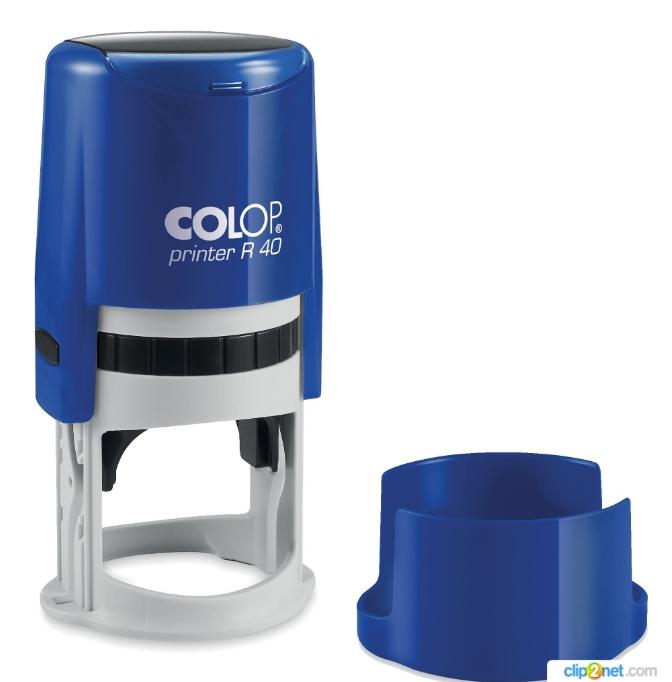 COLOP Cover Printer R40 COBALT оснастка для печати с защитной крышкой (кобальт). (АКЦИЯ)