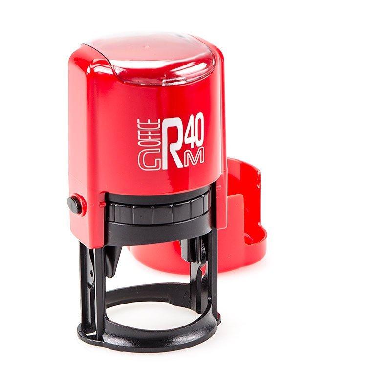 GRM R40 Office Box Black edition оснастка для круглой печати D 40 мм в боксе (красно/черная) (АКЦИЯ)