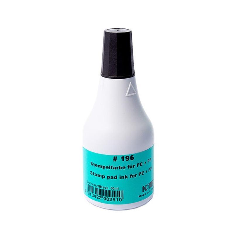 Colop 196 D Черная штемпельная краска быстросохнущая, 250мл (спиртовая основа)