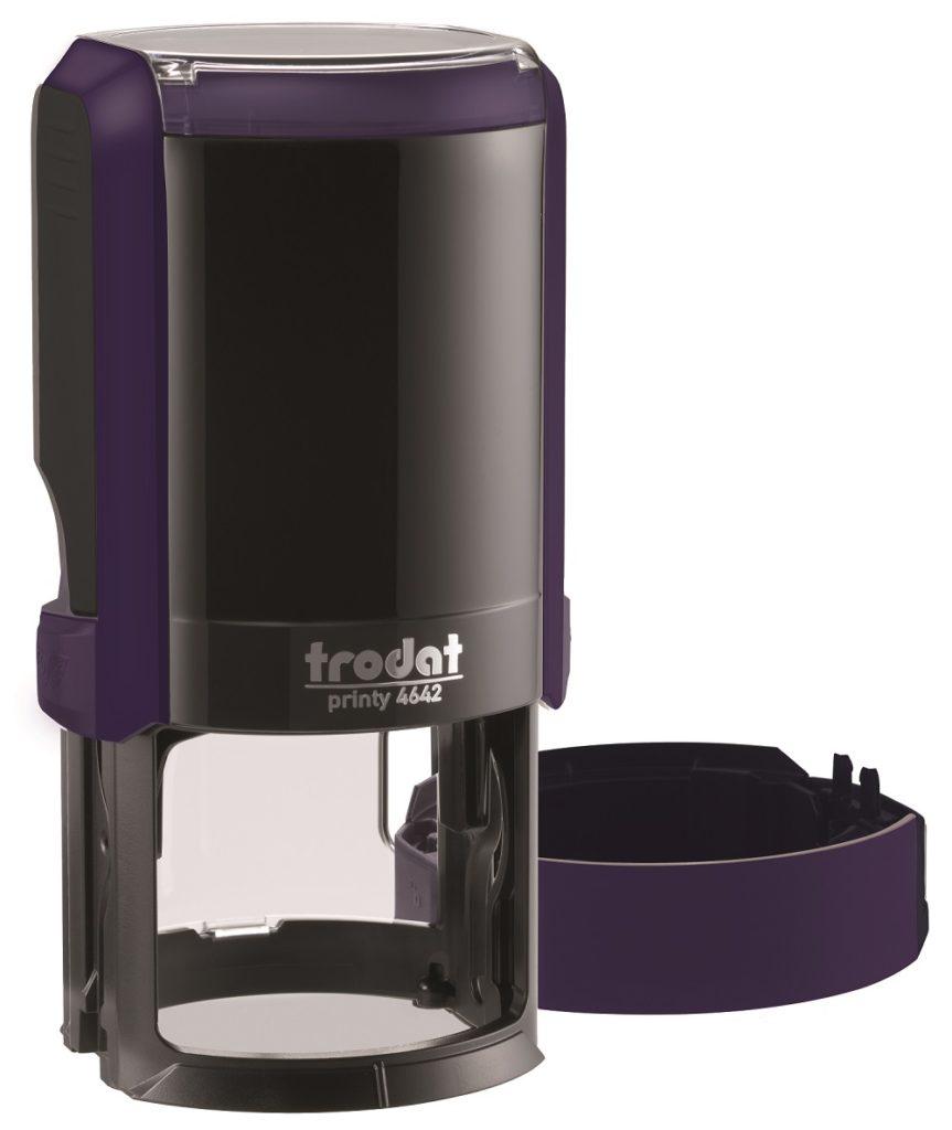 Trodat 4642 NEW автоматичская оснастка для печати d 42мм с защитной крышкой (фиолетовая) (АКЦИЯ)
