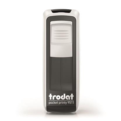 TRODAT 9512 POCKET PRINTY СЕРЕБРЯННЫЙ карманный штамп 47 х 18мм / АКЦИЯ