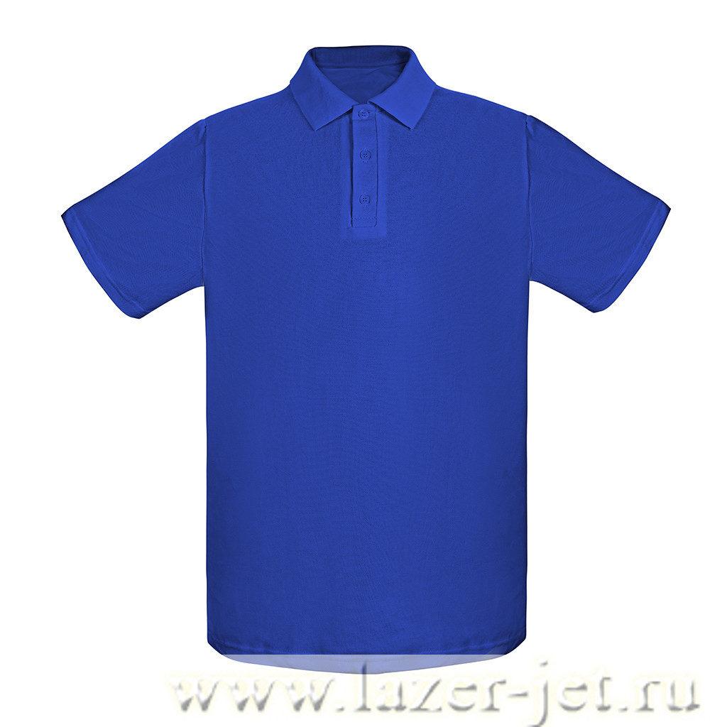 Поло, цвет синий